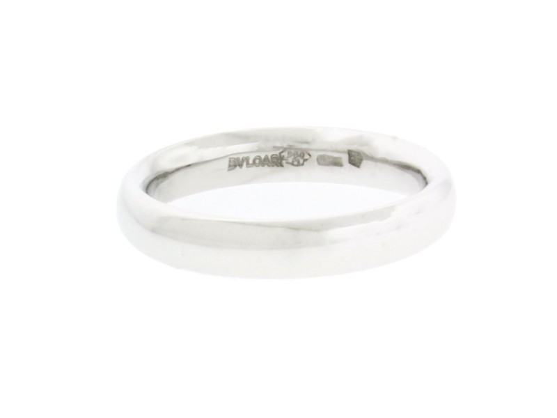 Bulgari 18K White Gold Band Ring Size 9.5