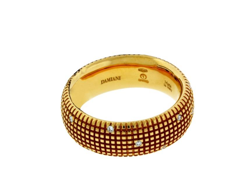 Damiani 18K Rose Gold Metropolitan Dream 0.14ct. Diamond Band Ring Size 6.5