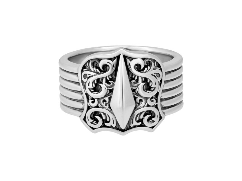Stephen Webster 925 Sterling Silver Highwayman Shield Ring Size 10