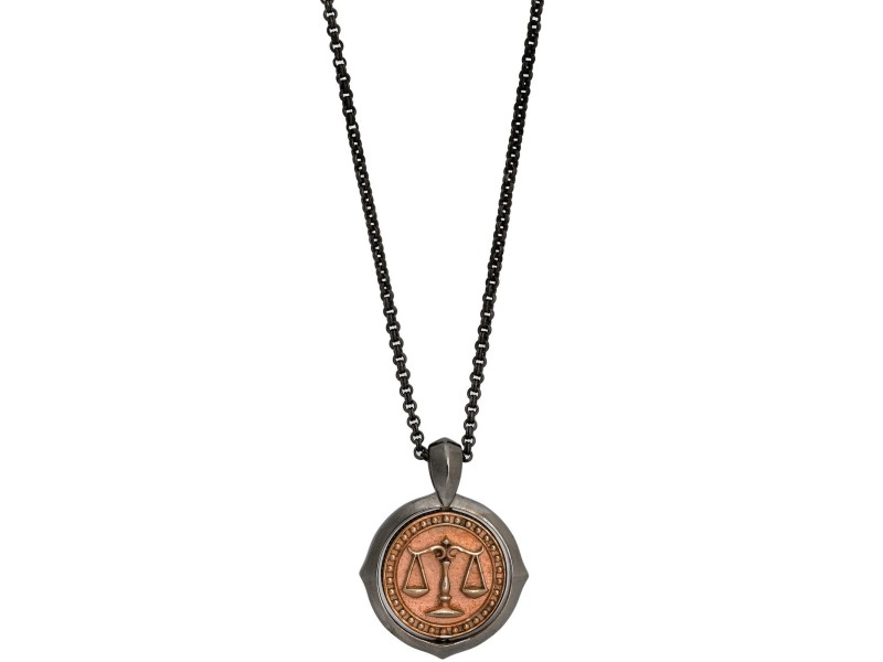 Stephen Webster 925  Sterling Silver Astro Flip Coin Zodiac Libranecklace Necklace