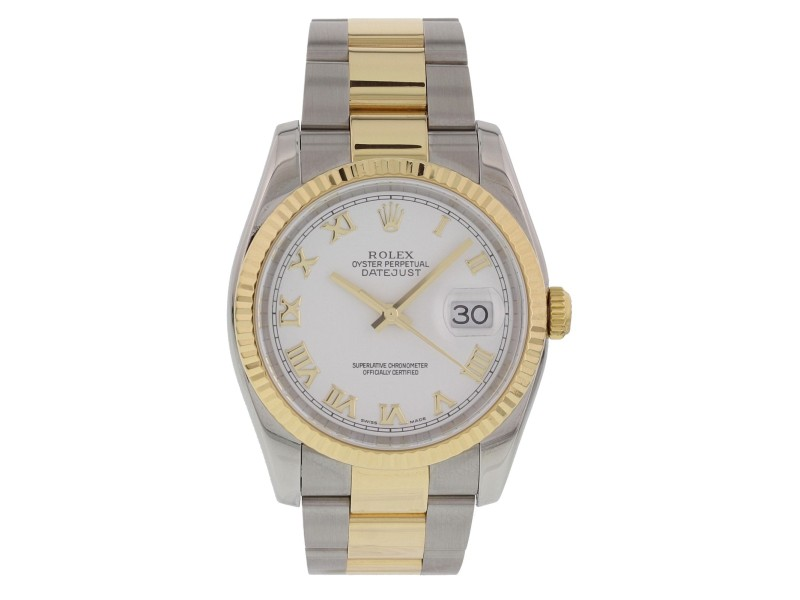 d34a9c8d1c89b Rolex Datejust 116233 18K Yellow Gold Stainless Steel Automatic 36mm Mens  Watch