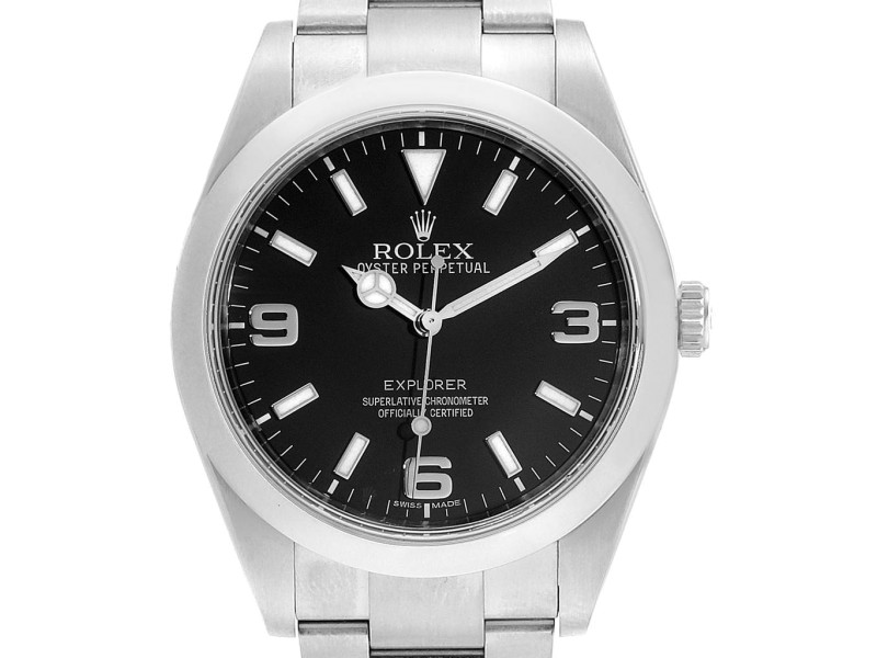 Rolex Explorer I 39 Stainless Steel Mens Watch 214270