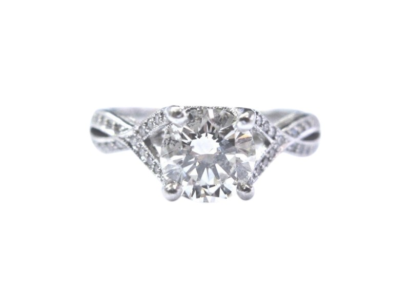 Tacori Platinum 950 Platinum Diamond Ring Size 6
