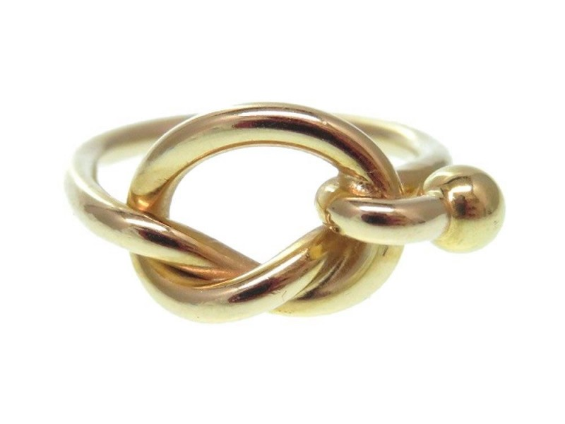 0149600004810 Tiffany & Co. 18K Yellow Gold Love Knot Ring Size 6.5