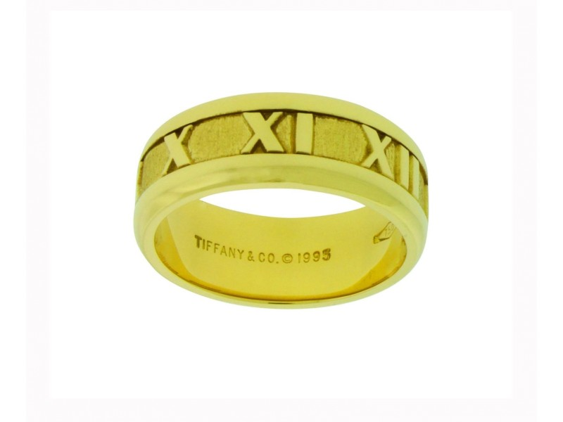 Tiffany & Co. 18K Yellow Gold Atlas Band Ring Size 5.5
