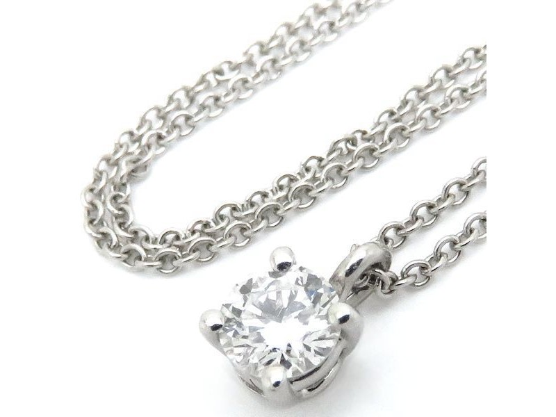 Tiffany & Co. 950 Platinum & Diamond Pendant Necklace