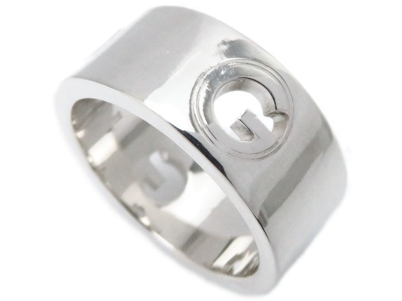 Gucci Sterling Silver G Band Ring Size 5.75