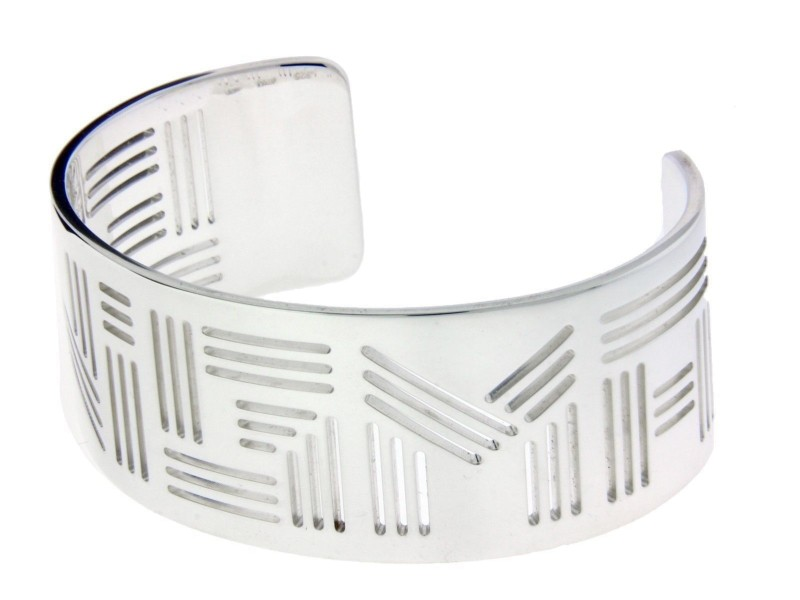 Bulgari Enigma By Bulgari Sterling Silver Bangle Bracelet
