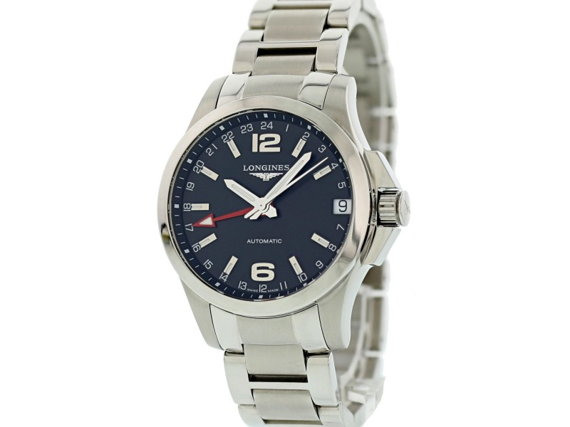 Longines Conquest L3.687.4.56.6 41mm Mens Watch