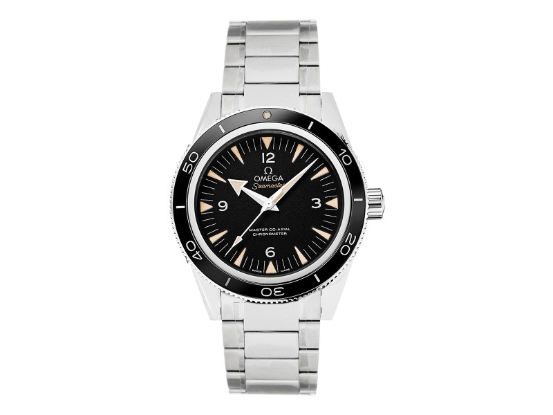Omega 23330412101001 Seamaster 300 Automatic Black Dial Stainless Steel Watch