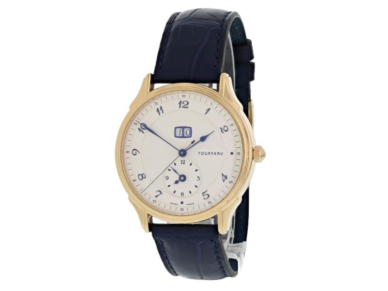 Tourneau Classic Big Date 35005 40mm Mens Watch