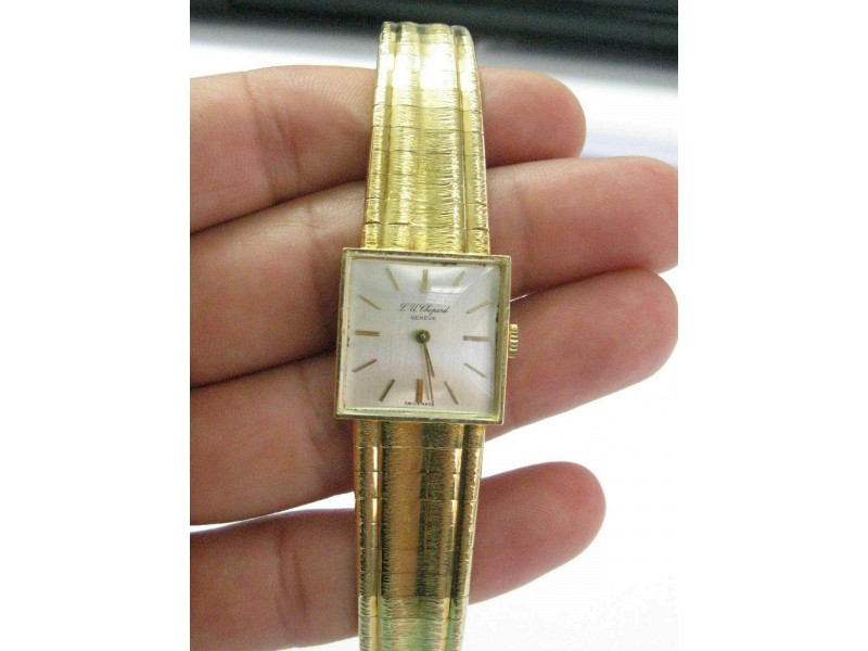 "Chopard 18Kt Vintage SOLID Yellow Gold Watch 6.75"" 20mm x 20mm"