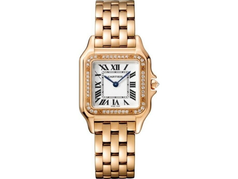 Cartier Panthere WJPN0009 Midsize Pink Gold Watch Box Papers