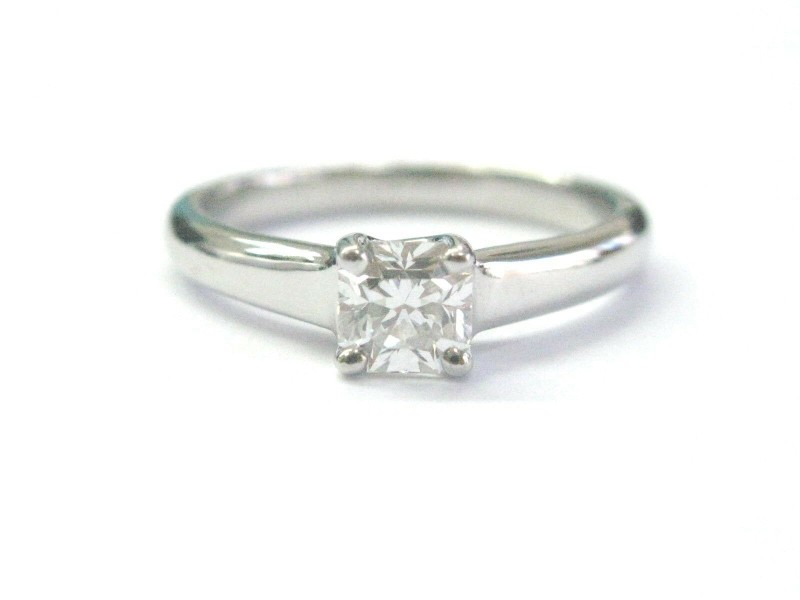 Tiffany & Co Platinum Lucida Diamond Solitaire Engagement Ring G-VS1 .50Ct