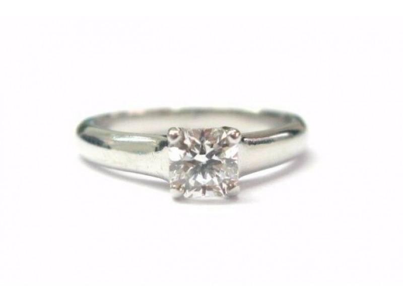 Tiffany & Co Platinum Lucida Diamond Engagement Ring G-VVS2