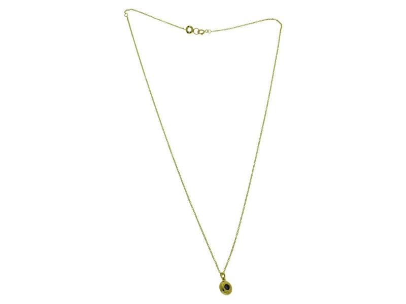 Ippolita 18k yellow gold diamonds & Iolite mini Lollipop pendant necklace