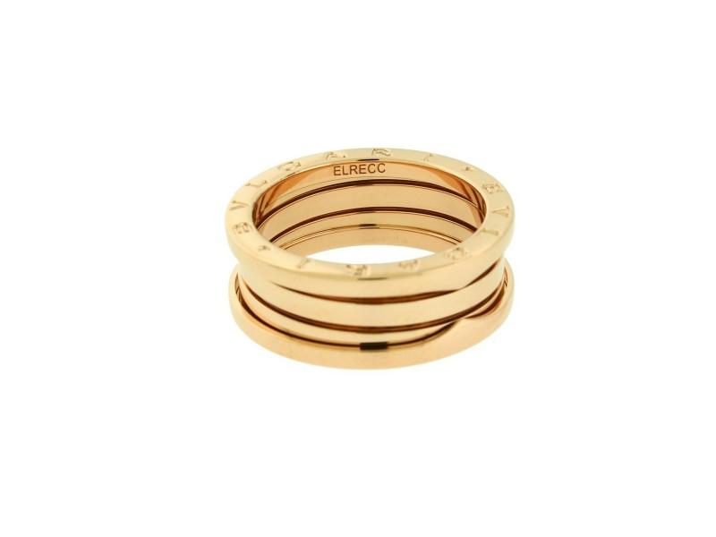 Bvlgari B.ZERO1 3 band ring in 18k rose gold AN852405 size 59 - USA 9