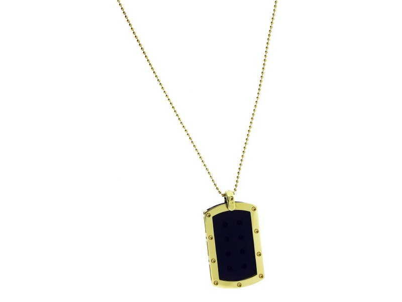 Roberto Coin unisex Pois Moi 18k yellow gold dog tag