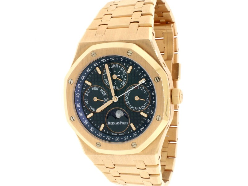 Audemars Piguet Royal Oak Quantieme Perpetual Calendar 41MM 18K Rose Gold Watch