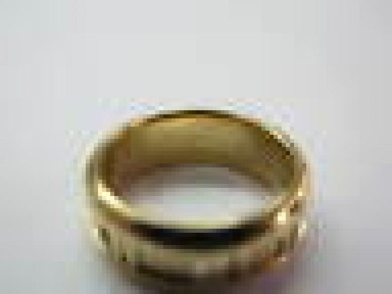 Tiffany & Co Atlas Ring 18Kt Yellow Gold 6.8mm Size 6