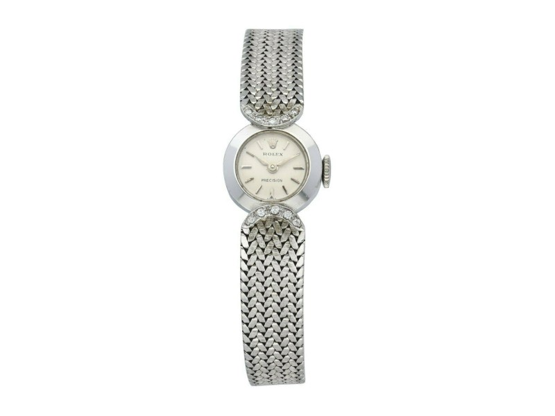 Rolex vintage 14K White Gold woman's watch