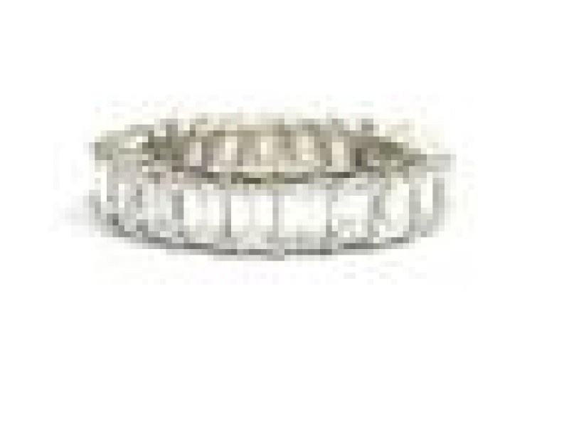 NATURAL Emerald Cut Diamond Shared Prong Eternity Band Ring White Gold 4.80C Sz7