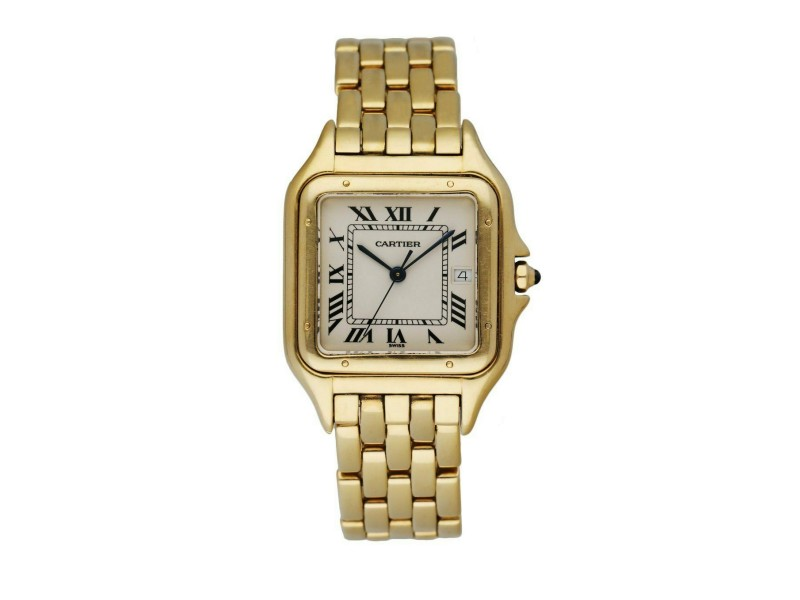 Cartier Panthere 18K Yellow Gold Large Men's Watch