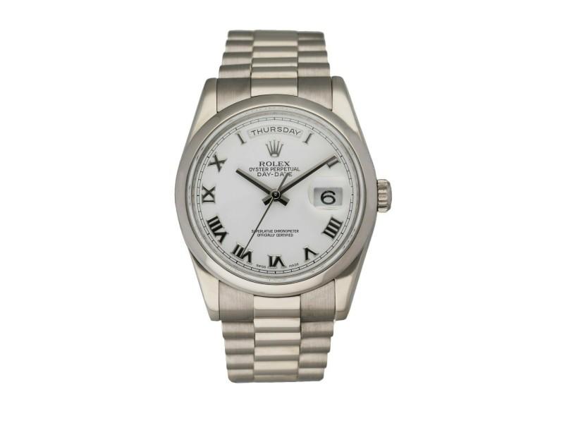 Rolex Day Date 118209 18K White Gold Men's Watch