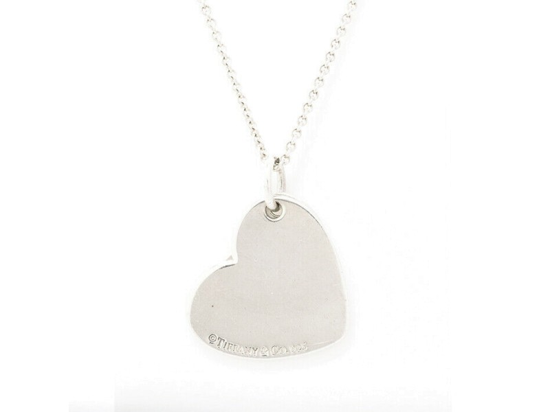 TIFFANY & Co. silver Double Heart Tag necklace