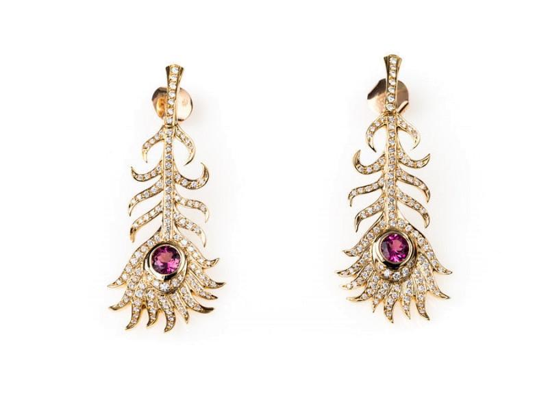 Carrera y Carrera 18K Yellow Gold, Diamond & Pink Tourmaline Earrings