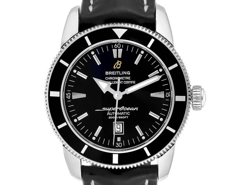 Breitling Superocean Heritage 46 Black Dial Steel Mens Watch A17320