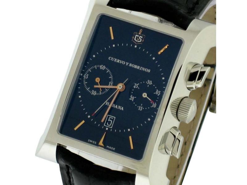 Cuervo y Sobrinos Esplendidos Chronograph Mens Watch