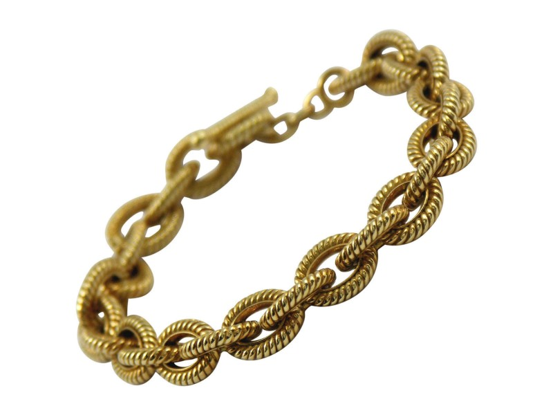 Tiffany & Co. Gold Twisted Rope Link Bracelet