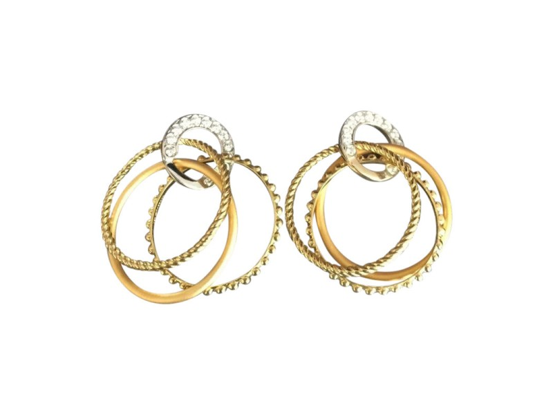 Carrera y Carrera 18K Yellow & White Gold Diamond Earrings
