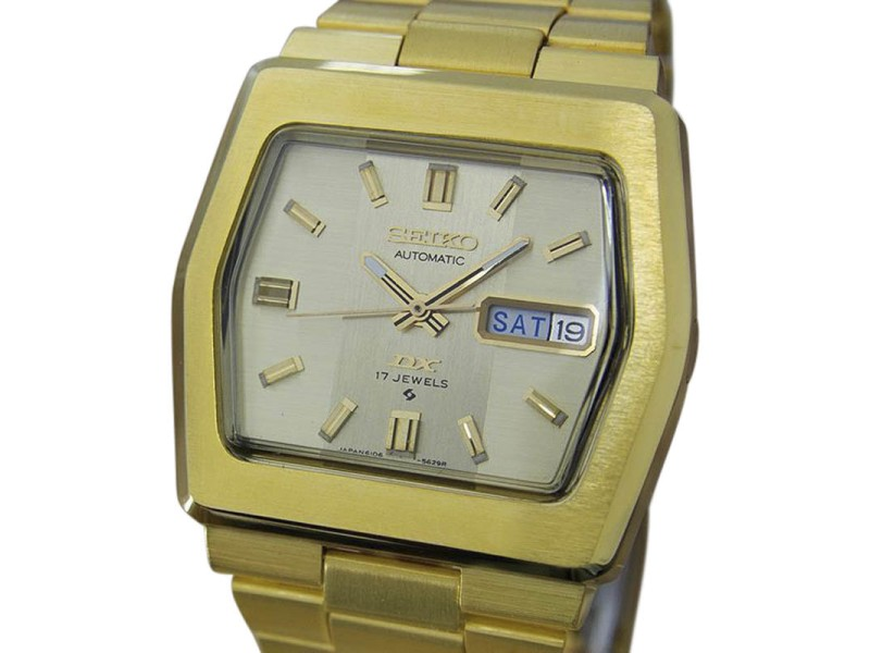 Seiko DX 6106 5529 Gold Plated Stainless Steel Automatic 37mm Mens Watch 1970