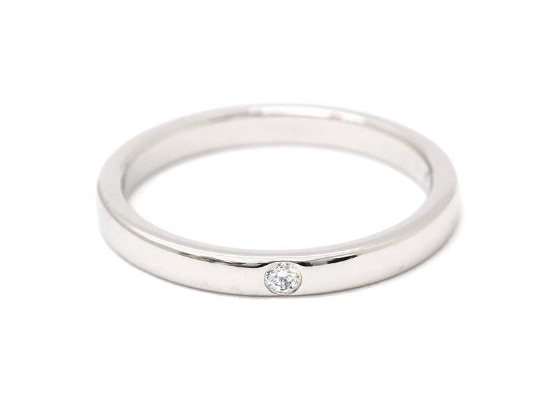 Cartier Ballerine Platinum with 0.01ct Diamond Ring Size 4.5