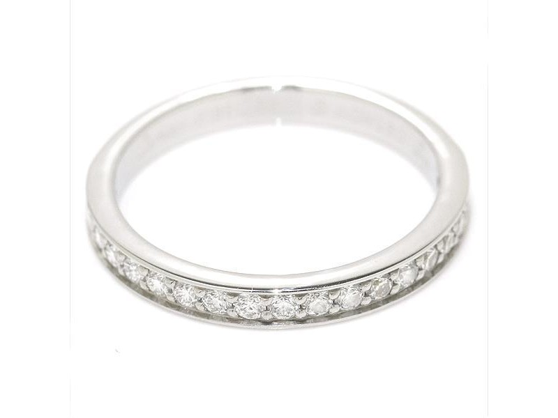 Cartier Classic PT950 Platinum with 0.27ct Diamond Band Ring Size 6.5