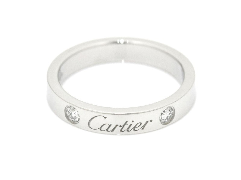 Cartier Platinum with 0.07ct Diamond Ring Size 4