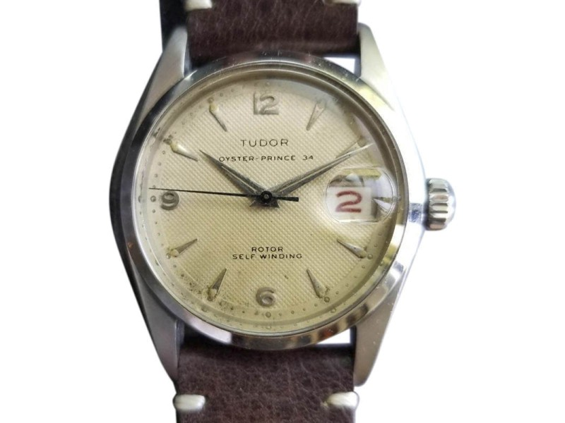 Rolex Tudor Oyster Prince 7914 Vintage 34mm Mens Watch