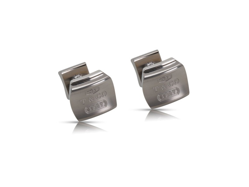 Tiffany & Co. 1837 Galaxy 925 Sterling Silver and PT950 Titanium Cufflinks