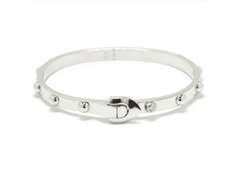 Louis Vuitton 18K White Gold with Diamond Bangle Bracelet