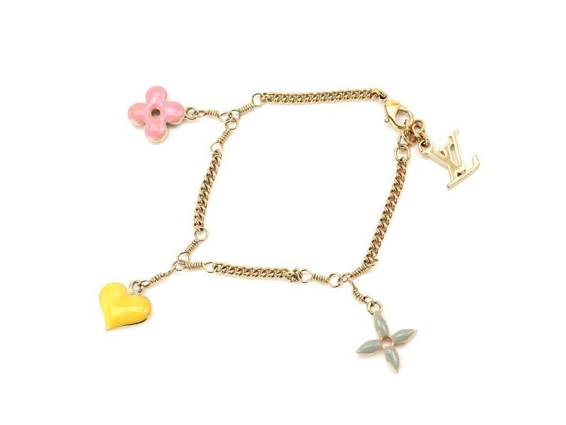 Louis Vuitton Gold Tone Hardware Sweet Monogram Bracelet
