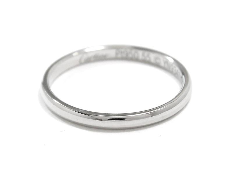 Cartier Classic Ring PT950 Platinum Size 7.25