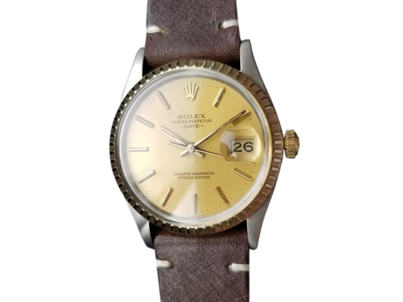 Rolex Oyster Perpetual Date 15053 Vintage 34mm Mens Watch
