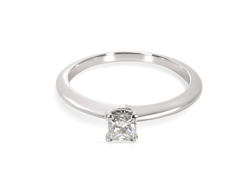 Tiffany & Co. Platinum Diamond Engagement Ring Size 5.5