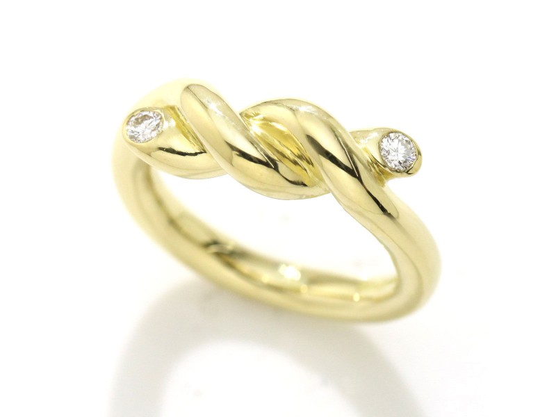 Tiffany & Co. 18K Yellow Gold Diamond Ring Size 6
