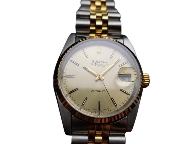 Bulova Super Seville Calendar Vintage 36mm Mens Watch