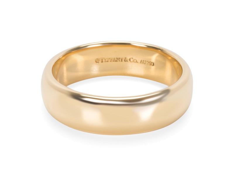 Tiffany & Co. 18K Yellow Gold Wedding Ring Size 9.5