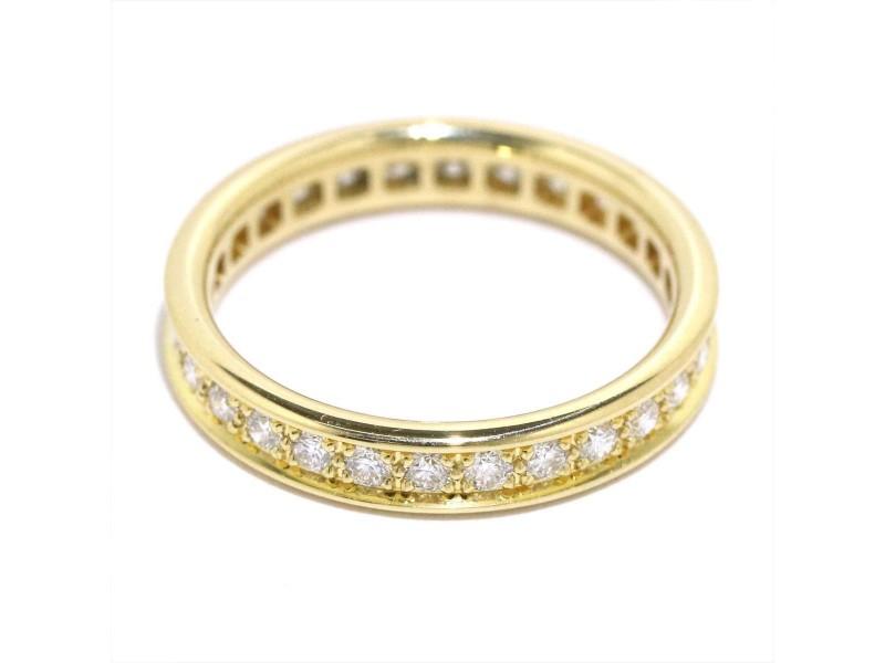 Cartier Ring 18K Yellow Gold Diamond Size 4.5