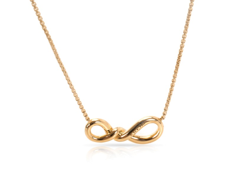 David Yurman Continuance 18K Yellow Gold Diamond Necklace